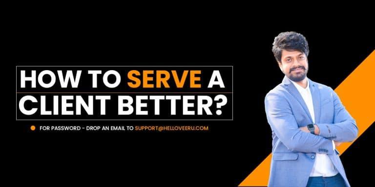 serving a client