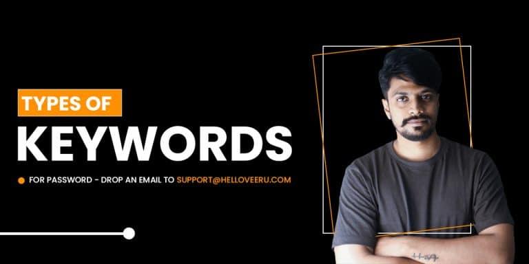 types of keywords